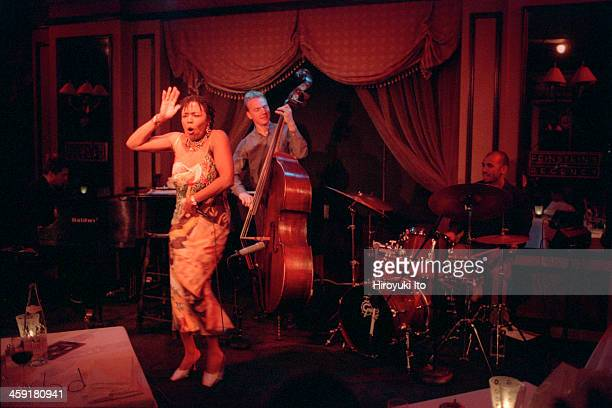 Dee Dee Bridgewater performing at Feinstein's at the Regency on Thursday night September 28 2000This imageFrom left Thierry Eliez Dee Dee Bridgewater...