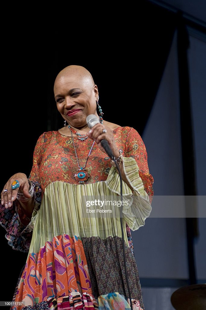 Dee Dee Bridgewater performs at the New Orleans Jazz & Heritage Festival on April 29, 2010 in New Orleans, Louisiana.