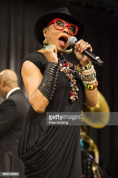 Dee Dee Bridgewater performs at the New Orleans Jazz Market on December 9 2017 in New Orleans Louisiana