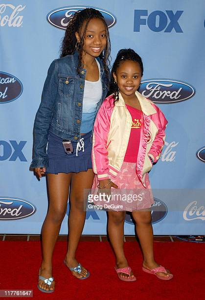 Dee Dee Davis and sister Aree during 'American Idol' Season 4 Top 12 Finalists Party at Astra West in West Hollywood California United States