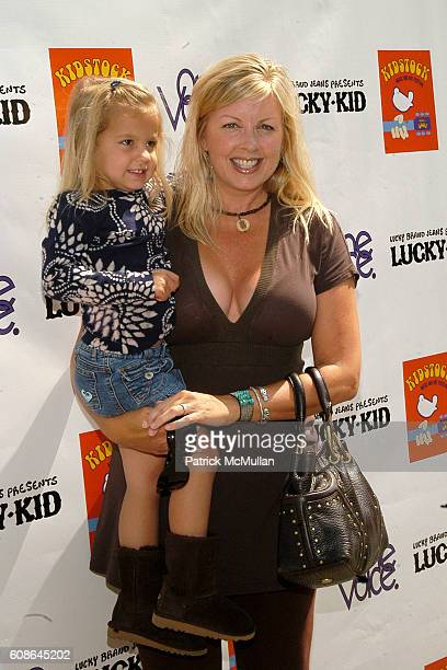 Dee Dee Hemby and India Isabella Cortese attend Hollywood and Fashion Unite for the Kidstock Music and Art Festival at Greystone Mansion on June 2...