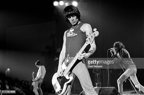 Dee Dee Ramone of The Ramones performing at the Palladium in New York City on March 9 1979