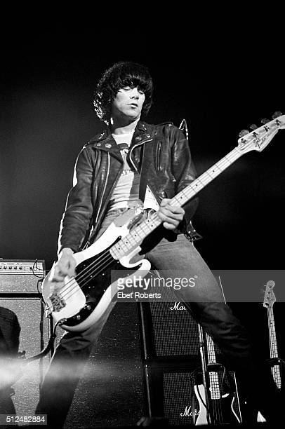 Dee Dee Ramone of The Ramones performing in Asbury Park New Jersey on August 5 1978