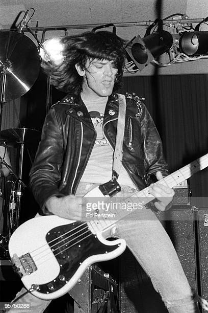 Dee Dee Ramone of The Ramones performs at the Old Waldorf club in January 1978 in San Francisco California