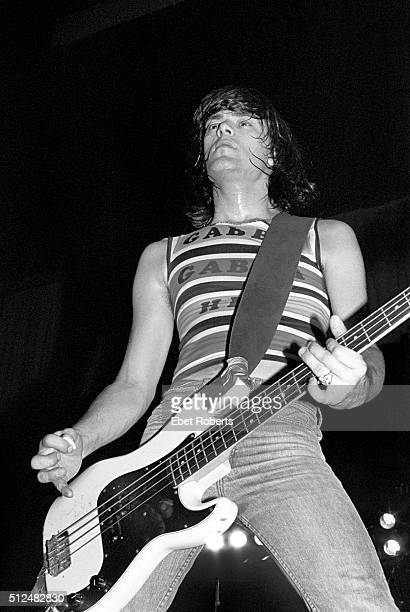 Dee Dee Ramone performing with the Ramones at the Palladium in New York City on October 6 1977