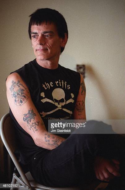 Dee Dee Ramone poses for a portrait during a photo session in his apartment in Los Angeles, California on March 14, 2000.