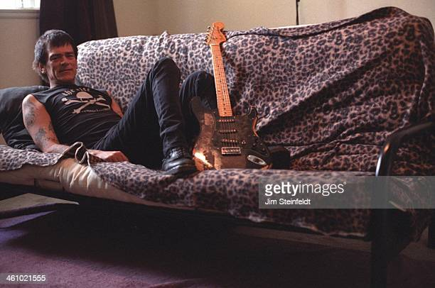 Dee Dee Ramone poses for a portrait during a photo session in his apartment in Los Angeles California on March 14 2000