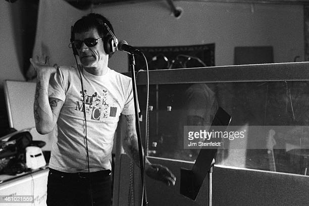 Dee Dee Ramone recording session in Los Angeles California on March 9 2000