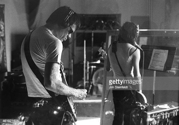 Dee Dee Ramone recording session in Los Angeles, California on March 9, 2000.