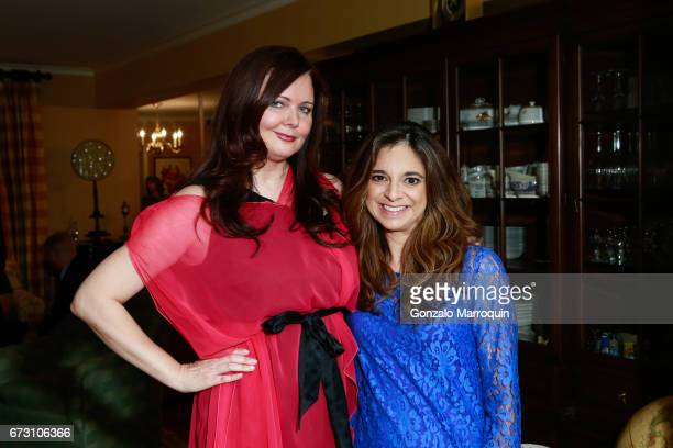 Dee Dee Sorvino and Cathy Areu during the Paul Dee Dee Sorvino celebrate their new book Pinot Pasta Parties at 200 East 57th Street on April 25 2017...