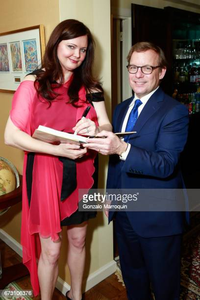 Dee Dee Sorvino and Eric Shawn during the Paul Dee Dee Sorvino celebrate their new book Pinot Pasta Parties at 200 East 57th Street on April 25 2017...