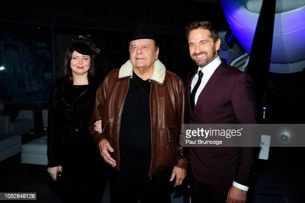Dee Dee Sorvino Paul Sorvino and Gerard Butler attend Lionsgate With The Cinema Society Host The After Party For The World Premiere Of 'Hunter...