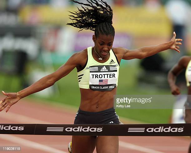 Dee Dee Trotter won the women's 400 meters in 5119 in the adidas Track Classic at the Home Depot Center in Carson Calif on Sunday May 21 2006