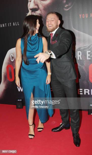 Dee Devlin and Conor McGregor attend the Irish premiere of 'Conor McGregor Notorious' held at the Savoy Cinema on November 1 2017 in Dublin Ireland