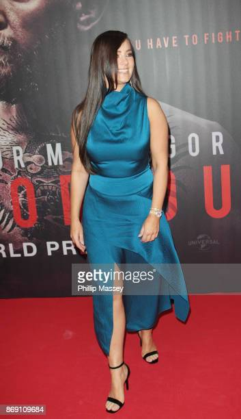 Dee Devlin attends the Irish premiere of 'Conor McGregor Notorious' held at the Savoy Cinema on November 1 2017 in Dublin Ireland