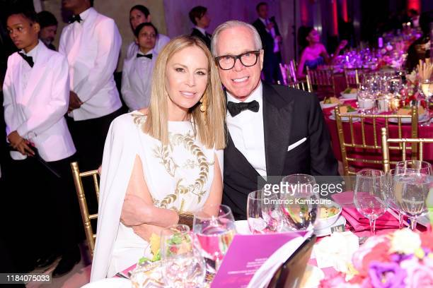 Dee Hilfiger and Tommy Hilfiger attend the Angel Ball 2019 hosted by Gabrielle's Angel Foundation at Cipriani Wall Street on October 28 2019 in New...