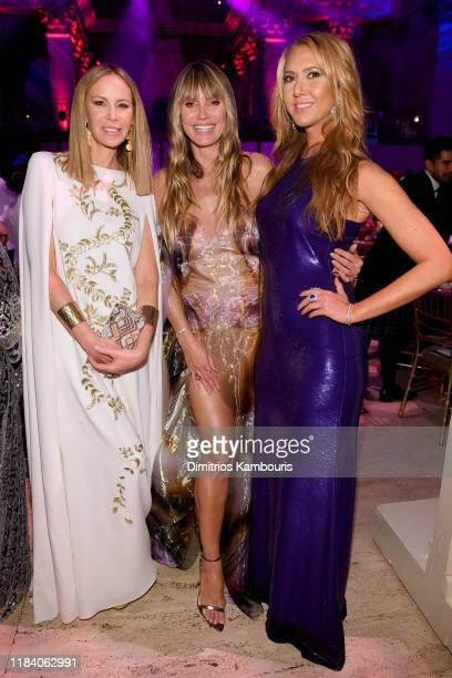 Dee Hilfiger Heidi Klum and Ofira Sandberg attend the Angel Ball 2019 hosted by Gabrielle's Angel Foundation at Cipriani Wall Street on October 28...