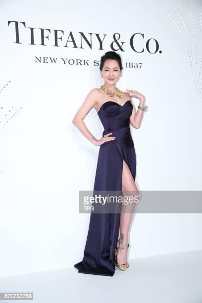 Dee Hsu attends 2017 TIFFANYCo jewelry show on 03th November 2017 in Taipei Taiwan China