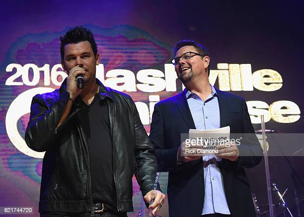 Dee Jay Silver and SiriusXM The Highway's Storme Warren attend the 2016 Nashville Universe Awards at Wildhorse Saloon on November 7 2016 in Nashville...