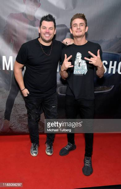 Dee Jay Silver and TV personality James Kennedy attends the Los Angeles launch party for JamesKennedyshop at SUR Lounge on October 23 2019 in Los...