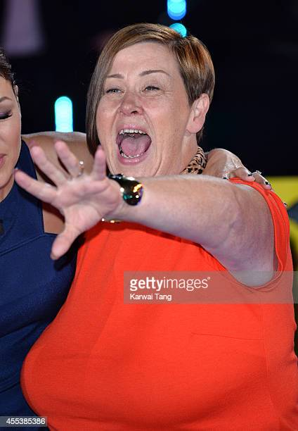 Dee Kelly is evicted from the Celebrity Big Brother house at Elstree Studios on September 12 2014 in Borehamwood England