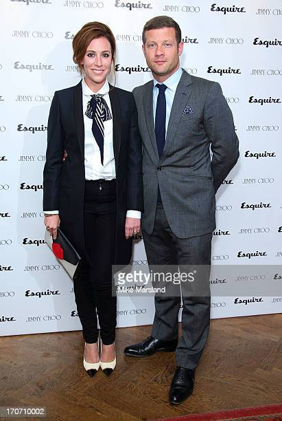 Dee Koppang and Dermot O'Leary attend a party hosted by Jimmy Choo & Esquire during the London Collections SS14 on June 16, 2013 in London, England.