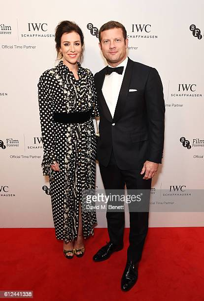 Dee Koppang and Dermot O'Leary attend the IWC Schaffhausen Dinner in Honour of the BFI at Rosewood London on October 4 2016 in London England