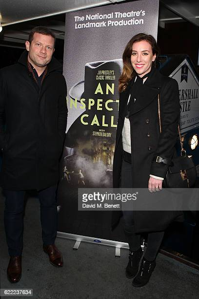 Dee Koppang and Dermot O'Leary attend the press night after party for Stephen Daldry's production of 'An Inspector Calls' aboard the Tattershall...