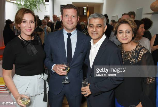Dee Koppang O'Leary Dermot O'Leary Mayor of London Sadiq Khan and Saadiya Khan attend the Mayor of London's Summer Culture Reception on July 18 2017...