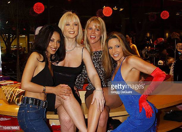 Dee Nina Hartley Keri Windsor Alexandra Silk during The Couple's Corner Event hosted by Adam Eve at Hustler Hollywood in West Hollywood California...