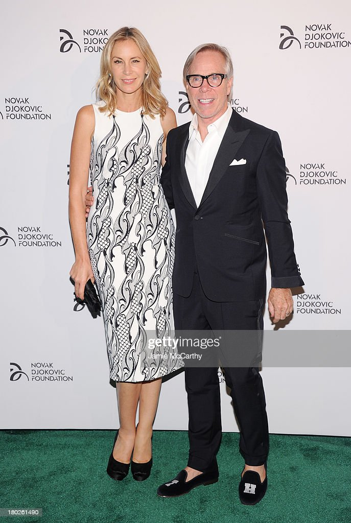 Dee Ocleppo and fashion designer Tommy Hilfiger attend the Novak Djokovic Foundation New York dinner at Capitale on September 10, 2013 in New York City.