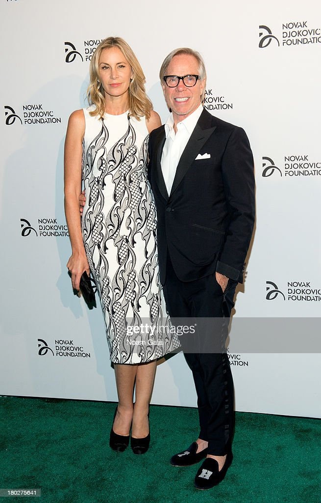 Dee Ocleppo and fashion designer Tommy Hilfiger attend the The 2013 Novak Djokovic Foundation Dinner at Capitale on September 10, 2013 in New York City.