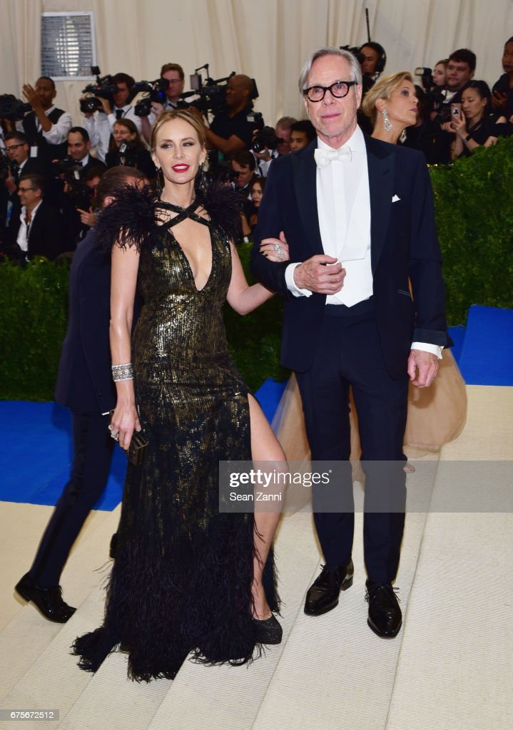 Dee Ocleppo and Tommy Hilfiger arrive at 'Rei Kawakubo/Comme des Garcons: Art Of The In-Between' Costume Institute Gala at The Metropolitan Museum on May 1, 2017 in New York City.