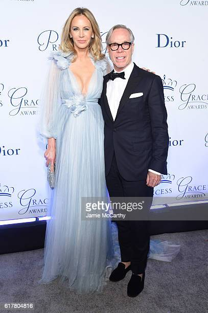 Dee Ocleppo and Tommy Hilfiger attend the 2016 Princess Grace awards gala at Cipriani 25 Broadway on October 24 2016 in New York City