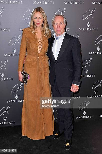 Dee Ocleppo and Tommy Hilfiger attend the CR Fashion Book Issue No5 Launch Party Hosted by Carine Roitfeld and Stephen Gan at The Peninsula Paris on...