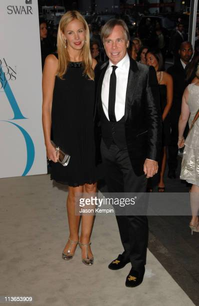Susie Hilfiger and Tommy Hilfiger during 2007 CFDA Fashion Awards Red Carpet at New York Public Library in New York City New York United States