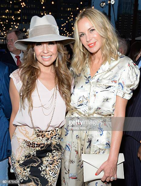 Susie Hilfiger and Guest attend Tommy Hilfiger Women's Fashion Show Front Row during New York Fashion Week on September 9 2016 in New York City at...