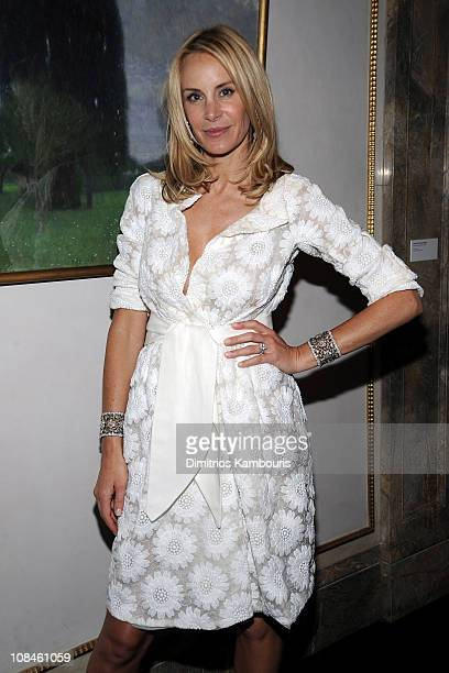 Dee Ocleppo poses at her engagement party to designer Tommy Hilfiger hosted by Leonard and Evelyn Lauder at Neue Galerie on June 9 2008 in New York...