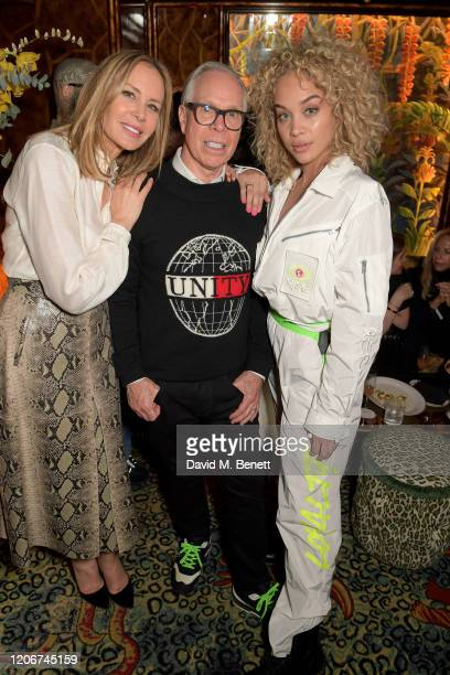 Dee Ocleppo Tommy Hilfiger and Jasmine Saunders attend the TOMMYNOW after party at Annabels on February 16 2020 in London England