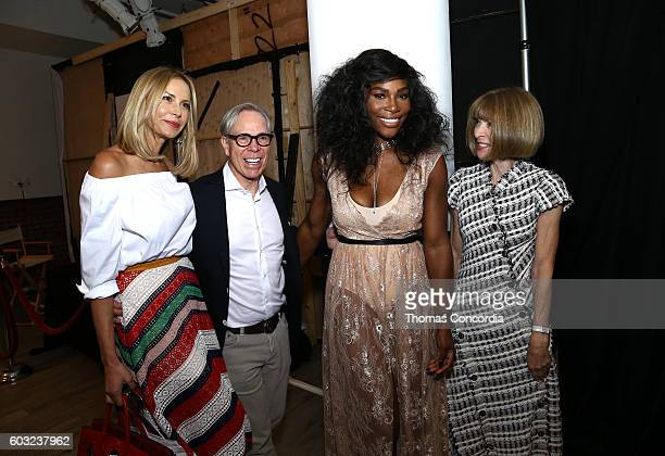 Dee Ocleppo Tommy Hilfiger Serena Williams and Anna Wintour attend HSN Presents Serena Williams Signature Statement Collection Fashion Show at Kia...