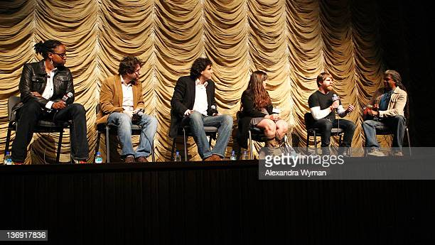 Dee Rees Adam Reid Matthew Gordon Maryam Keshavarz Evan Glodell and Elvis Mitchell at Film Independent Screening Series 'Cassavetes' Shadow' held at...