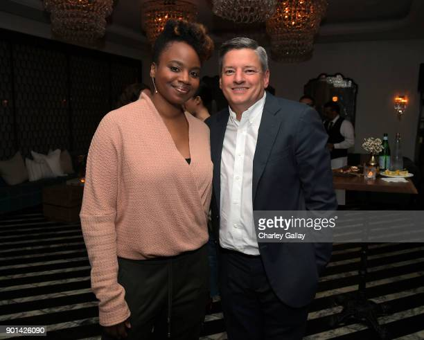 Dee Rees and Netflix Chief Content Officer Ted Sarandos attend special screening of MUDBOUND hosted by Alfre Woodard on January 4 2018 in West...