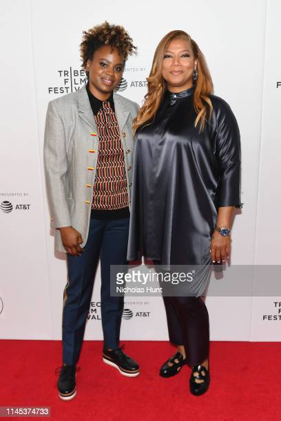 Dee Rees and Queen Latifah attends Tribeca Talks and the Premiere of The Queen Collective Shorts 2019 Tribeca Film Festival at Spring Studio on April...
