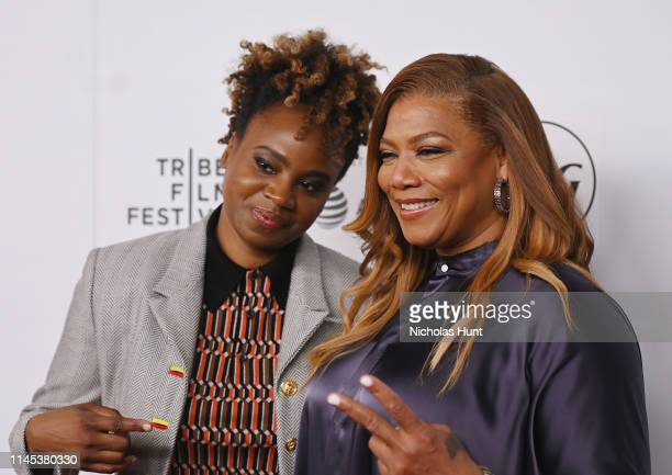 Dee Rees and Queen Latifah attends Tribeca Talks and the Premiere of The Queen Collective Shorts - 2019 Tribeca Film Festival at Spring Studio on...