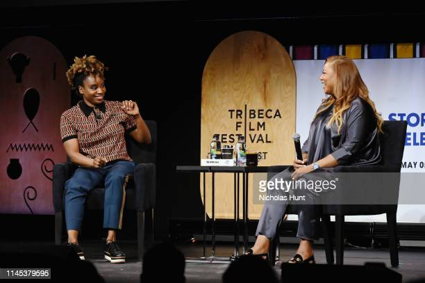 Dee Rees and Queen Latifah Speak at the Tribeca Talks Premiere of The Queen Collective Shorts 2019 Tribeca Film Festival at Spring Studio on April 26...