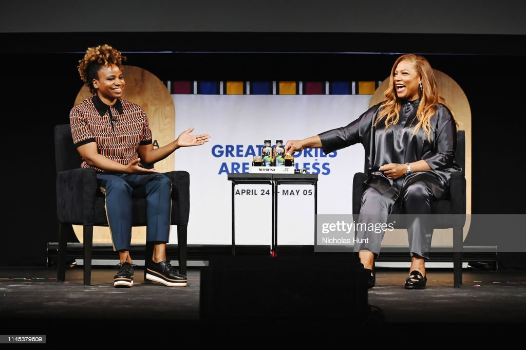 Tribeca Talks - Queen Latifah With Dee Rees With The Premiere Of The Queen Collective Shorts - 2019 Tribeca Film Festival : Nachrichtenfoto