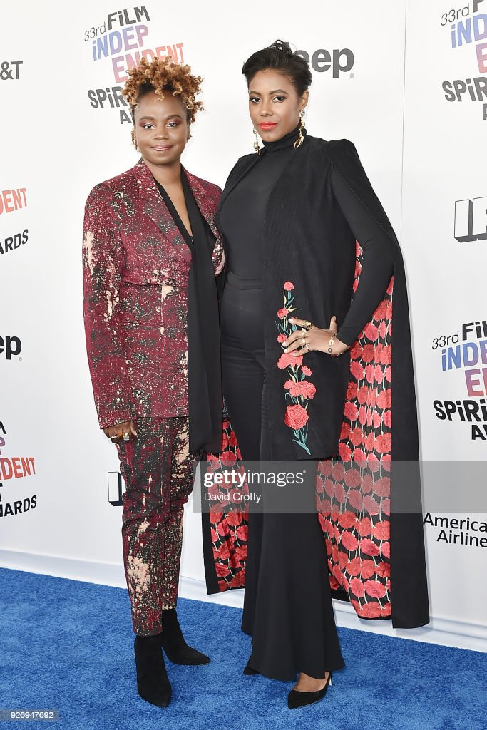 Dee Rees and Sarah Broom attend the 2018 Film Independent Spirit Awards - Arrivals on March 3, 2018 in Santa Monica, California.