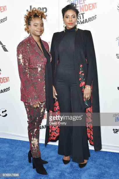 Dee Rees and Sarah Broom attend the 2018 Film Independent Spirit Awards Arrivals on March 3 2018 in Santa Monica California