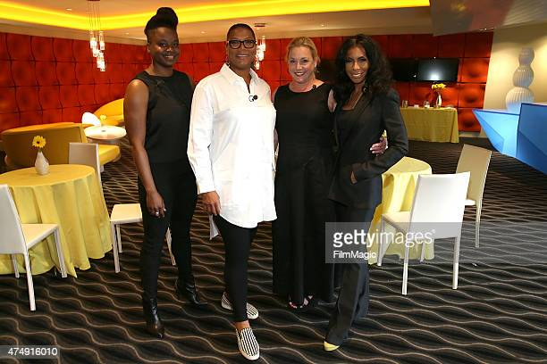 Dee Rees Queen Latifah Lili Fini Zanuck and Khandi Alexander attend the HBO Bessie For Your Consideration Event on May 27 2015 in West Hollywood...