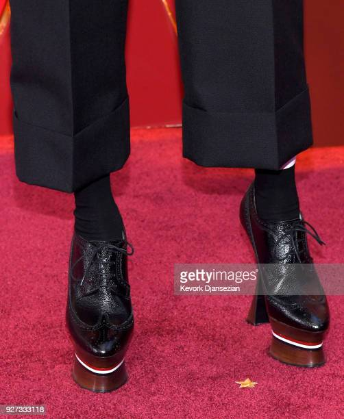 Dee Rees shoe detail attends the 90th Annual Academy Awards at Hollywood Highland Center on March 4 2018 in Hollywood California